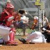 Fairview\'s Ross Smith slides safely into home plate under the tag of Dale catcher Ethan Sellers during the class 2A state baseball game between Dale and Fairview at Dolese Park in Oklahoma City, OK, Thursday, May 10, 2012, By Paul Hellstern, The Oklahoman