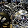 In this Monday, March 4, 2013 photo taken in Fayetteville, N.C., car and truck wheels appear on display in the showroom of Auto Express located near the entrance to Fort Bragg. More than 8,500 civilian employees on the base will be furloughed one day a week starting in late April, the equivalent of a 20-percent pay cut, possibly affecting small businesses near the base. (AP Photo/Gerry Broome)