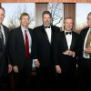 SAE\'S CELEBRATE 100...Steve Raybourn, Bruce Bockus, Robert Bell, Chuck Perrin and Bill Curry were at the dance/dance to celebrate the Sigma Alpha Epsilon\'s 100th anniversary. (Photo by Steve Maupin).