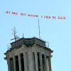 "Photo - AUSTIN AMERICAN-STATESMAN: Rodolfo Gonzalez  -12/04/2008 -  A plane with a banner that reads, ""Hey Mack, Quit Whining U Knew The Rules"" buzzes around the campus of the University of Texas in Austin, Texas, on Thursday, December 4, 2008."