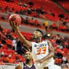 Oklahoma State guard Marcus Smart lays the ball into the basket during Oklahoma State\'s exhibition game versus Campbellsville on Oct. 27, 2013 at Gallagher Iba Arena in Stillwater, Okla. The Cowboys won 80-70, lead by Markel Brown\'s 13 points. Photo by KT King/For the Oklahoman