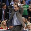 Scott Brooks reacts to a foul on Oklahoma City Thunder small forward Kevin Durant (35) during the NBA basketball game between the Oklahoma City Thunder and the Phoenix Suns at the Chesapeake Energy Arena on Wednesday, March 7, 2012 in Oklahoma City, Okla. Photo by Chris Landsberger, The Oklahoman