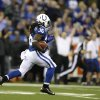 Indianapolis Colts\' Deji Karim runs back a kickoff 101 yards for a touchdown during the second half of an NFL football game against the Houston Texans, Sunday, Dec. 30, 2012, in Indianapolis. (AP Photo/Michael Conroy)