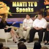 In this photo taken on Jan. 22, 2013 and released by ABC Notre Dame linebacker Manti Te\'o, second from left, and his parents Brian and Ottilia, right, listen to host Katie Couric during an interview for