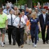 Health-conscious state employees unlaced their wing-tips and slipped out of their heels to put on a pair of walking shoes and join Gov. Mary Fallin in a walk around the state office buildings north of the Capitol as part of her campaign to promote better health and wellness in Oklahoma. About 350 state workers from a variety of agencies participated in the 25-minute stroll on Monday, May 14, 2012. Photo by Jim Beckel, The Oklahoman