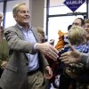 Missouri Republican Senate candidate, Rep. Todd Akin, R-Mo., visits with supporters during a stop to a Republican campaign office Monday, Nov. 5, 2012, in Florissant, Mo. Akin is running against Democratic incumbent Sen. Claire McCaskill. (AP Photo/Jeff Roberson)