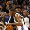Oklahoma City\'s Kevin Durant (35) dribbles past San Antonio\'s Stephen Jackson (3) during an NBA basketball game between the Oklahoma City Thunder and the San Antonio Spurs in Oklahoma City Monday, Dec. 17, 2012. Photo by Nate Billings, The Oklahoman