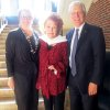 "Justice Yvonne Kauger, Bobbie Burbridge Lane and Dr. Robert Henry were at the dedication. Bobbie Burbridge Lane donated a life-sized marble statue of the biblical ""Ruth"" by R. Romanelli Fiernze, 1911, to Oklahoma City University. It was from the Burbridge Foundation's Collection of Art. (Photo by Helen Ford Wallace)."