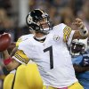 Pittsburgh Steelers quarterback Ben Roethlisberger throws a pass during the first half of an NFL football game against the Tennessee Titans on Thursday, Oct. 11, 2012, in Nashville, Tenn. (AP Photo/Wade Payne)