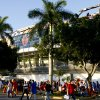 Fans walk outside the stadium before the BCS National Championship college football game between the University of Oklahoma Sooners (OU) and the University of Florida Gators (UF) on Thursday, Jan. 8, 2009, at Dolphin Stadium in Miami Gardens, Fla. PHOTO BY BRYAN TERRY, THE OKLAHOMAN