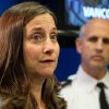 British Columbia Chief Coroner Lisa Lapointe speaks about the death of Canadian actor Corey Monteith as Vancouver Police Acting Chief Doug LePard, right, listens during a news conference in Vancouver, B.C., late Saturday July 13, 2013. Vancouver police say Canadian born actor Montieth, star of the hit show