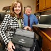 Stacey Boyer, director of community relations and Don Wilson, instructional technology director are the