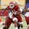 Dominique Whaley (31) runs during the University of Oklahoma (OU) Sooners first day of practice on Thursday, August 4, 2011, in Norman, Okla. Photo by Steve Sisney, The Oklahoman