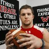 Carl Albert High School football player Zach Aylor in the school\'s athletic facility, Wednesday, Dec. 3, 2008. BY JIM BECKEL, THE OKLAHOMAN