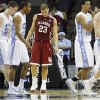 Oklahoma\'s Blake Griffin hand his head as North Carolina walks off the court for a time out during the second half in the Elite Eight game of NCAA Men\'s Basketball Regional between the University of North Carolina and the University of Oklahoma at the FedEx Forum on Sunday, March 29, 2009, in Memphis, Tenn. PHOTO BY CHRIS LANDSBERGER, THE OKLAHOMAN