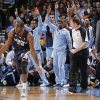 Photo - Memphis' Quincy Pondexter (20) reacts after hitting a three point shot during the NBA basketball game between the Oklahoma City Thunder and the Memphis Grizzlies at Chesapeake Energy Arena on Wednesday, Nov. 14, 2012, in Oklahoma City, Okla.   Photo by Chris Landsberger, The Oklahoman