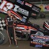 Photo - ADDS MANDATORY CREDIT  - This July 5, 2014 photo provided by Empire Super Sprints, Inc., shows sprint car driver Kevin Ward Jr., in the vicotry lane with his car at the Fulton Speedway in Fulton, N.Y. Ward was killed Saturday, Aug. 9, 2014 at the Canandaigua Motorsports Park in Central Square, N.Y., when the car being driven by Tony Stewart struck the 20-year-old who had climbed from his crashed car and was on the darkened dirt track trying to confront Stewart following a bump with Stewart one lap earlier. (AP Photo/Empire Super Sprints, Inc.)