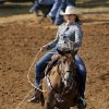 Sarah Kale of Hiddenite, NC, competes in the breakaway roping event during the morning go-round at the IFYR rodeo on Thursday, July 11, 2013. July 10, 2013. Photo by Jim Beckel, The Oklahoman.