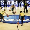 Photo - Baylor players dribble during practice at the NCAA college basketball tournament on Wednesday, March 26, 2014, in Anaheim, Calif. Baylor plays Wisconsin in a regional semifinal on Thursday. (AP Photo/Jae C. Hong)