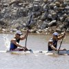 Carlos Garcia and Rami Zur compete in the men\'s double kayak 200m final during races for USA Canoe/Kayak World Cup Team Trials on the Oklahoma River, Saturday, April 21, 2012. Photo by Sarah Phipps, The Oklahoman.