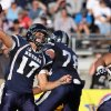 Nevada\'s Cody Fajardo (17) throws a pass against Wyoming during the first half of an NCAA college football game in Reno, Nev., on Saturday, Oct. 6, 2012. (AP Photo/Cathleen Allison)