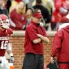 Head coach Bob Stoops watches his team during the spring Red and White football game for the University of Oklahoma (OU) Sooners at Gaylord Family/Oklahoma Memorial Stadium on Saturday, April 17, 2010, in Norman, Okla. Photo by Steve Sisney, The Oklahoman
