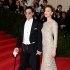 """Johnny Depp, left, and Amber Heard attend The Metropolitan Museum of Art\'s Costume Institute benefit gala celebrating """"Charles James: Beyond Fashion"""" on Monday, May 5, 2014, in New York. (Photo by Evan Agostini/Invision/AP)"""