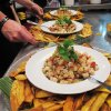 Classic Veracruz-style ceviche was served at Monday\'s night\'s pop-up restaurants at the Will Rogers Theatre complex for OK Chefs Relief with Rick Bayless. DAVE CATHEY - THE OKLAHOMAN