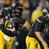 In this Sept., 15 2012, file photo, Missouri wide receiver Dorial Green-Beckham carries the ball during the second quarter of an NCAA college football game against Arizona State in Columbia, Mo. Green-Beckham now has seven catches for 128 yards and a touchdown through five games at Missouri, but says he feels no pressure to perform at a certain level. (AP Photo/L.G. Patterson, File)