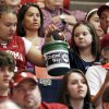 Fans pass a bucket collecting donations for the United Way during haltime of the Bedlam women\'s college basketball game between Oklahoma State University and University of Oklahoma at the Lloyd Noble Center in Norman, Okla., Saturday, February 28, 2009. BY NATE BILLINGS, THE OKLAHOMAN