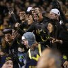 Baylor fans celebrate during an NCAA college football game between the University of Oklahoman (OU) Sooners and the Baylor Bears at Floyd Casey Stadium in Waco, Texas, Thursday, Nov. 7, 2013. Baylor won 41-12. Photo by Bryan Terry, The Oklahoman