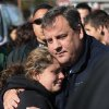 Photo -   FILE - In this Nov. 3, 2012 file photo, New Jersey Gov. Chris Christie comforts Kerri Berean in Little Ferry, N.J., after Superstorm Sandy caused a tidal surge on the Hackensack River that overtook a natural berm protecting the town. For Christie, leadership after Sandy often came with an empathetic hug. For New York Gov. Andrew Cuomo, it came with an angry tirade at utilities slow to restore power. For New York City Mayor Michael Bloomberg, it came with cool, businesslike assurance. (AP Photo/The Star-Ledger, David Gard, Pool, File)