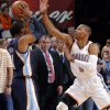 Oklahoma City\'s Russell Westbrook (0) defends on Memphis\' Mike Conley Jr. (11) during the NBA basketball game between the Oklahoma City Thunder and the Memphis Grizzlies at Chesapeake Energy Arena on Wednesday, Nov. 14, 2012, in Oklahoma City, Okla. Photo by Chris Landsberger, The Oklahoman