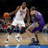 Oklahoma City\'s Kevin Durant (35) tries to get by Phoenix\'s Grant Hill (33) during the NBA basketball game between the Oklahoma City Thunder and the Phoenix Suns, Sunday, Dec. 19, 2010, at the Oklahoma City Arena. Photo by Sarah Phipps, The Oklahoman
