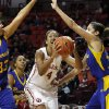 Oklahoma\'s Nicole Griffin (4) shoots as the University of Oklahoma Sooners (OU) play the Riverside Highlanders in NCAA, women\'s college basketball at The Lloyd Noble Center on Thursday, Dec. 20, 2012 in Norman, Okla. Photo by Steve Sisney, The Oklahoman