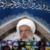 Sheik Abdul Mahdi al-Karbalai speaks to worshipers at the holy shrine of Imam Hussein during Friday prayers in the Shiite holy city of Karbala, 50 miles (80 kilometers) south of Baghdad, Iraq, Friday, July 11, 2014. The Sunni militant blitz led by the Islamic State extremist group has effectively cleaved the country along ethnic and sectarian lines — the swath of militant-held Sunni areas, the Shiite-majority south and center ruled by the Shiite-led government in Baghdad and the Kurdish north. (AP Photo)