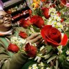 Vickie Baker, floral designer, working on an arrangement for Valentine\'s Day at Oklahoma City Florist in downtown Oklahoma City Tuesday, Feb. 12, 2008. BY PAUL B. SOUTHERLAND, THE OKLAHOMAN