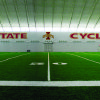 IOWA STATE UNIVERSITY, STEVE AND DEBBIE BERGSTROM INDOOR TRAINING FACILITY, INDOOR PRACTICE FACILITY: Iowa State's training facility is housed in a 92,000-square-foot building. PHOTO PROVIDED ORG XMIT: 0806132205381971