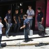 Police investigators work at the entrance of the Kiss nightclub where a fatal fire broke out in Santa Maria, Brazil, Monday, Jan. 28, 2013. A fast-moving fire roared through the crowded, windowless Kiss nightclub in this southern Brazilian city early Sunday, killing more than 230 people. Many of the victims were under 20 years old, including some minors. (AP Photo/Nabor Goulart) ORG XMIT: XSI107