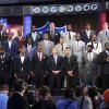 Photo - The top NFL football draft prospects pose for a group photo with Commissioner Roger Goodell, front row center, before the first round, Thursday, April 25, 2013, at Radio City Music Hall in New York. (AP Photo/Mary Altaffer)