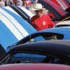 Ford Mustang owner John Carlson looks over other Mustangs on display during the Mustang Western Days celebration in Mustang, OK, Saturday, September 8, 2012, By Paul Hellstern, The Oklahoman