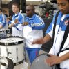 Babac Saiedi plays the drums for fans before the first round NBA basketball playoff game between the Oklahoma City Thunder and the Denver Nuggets on Wednesday, April 20, 2011, at the Oklahoma City Arena. Photo by Sarah Phipps, The Oklahoman