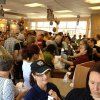 Chic-fil-A on SW 74th and Western was a madhouse during lunch hours today....filled with supporters and few protesters.