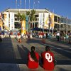 OU fans sit outside the stadium before the BCS National Championship college football game between the University of Oklahoma Sooners (OU) and the University of Florida Gators (UF) on Thursday, Jan. 8, 2009, at Dolphin Stadium in Miami Gardens, Fla. PHOTO BY BRYAN TERRY, THE OKLAHOMAN
