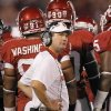 Oklahoma coach Bob Stoops looks on from the sideline during the college football game between the University of Oklahoma Sooners ( OU) and the Tulsa University Hurricanes (TU) at the Gaylord Family-Memorial Stadium on Saturday, Sept. 3, 2011, in Norman, Okla. Photo by Chris Landsberger, The Oklahoman ORG XMIT: KOD