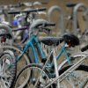 WINTER / COLD / WEATHER / ICE STORM / OSU: Ice-covered bicycles sit on the Oklahoma State University campus during a winter storm, in Stillwater, Okla., Monday, December 10, 2007. By Matt Strasen, The Oklahoman ORG XMIT: KOD