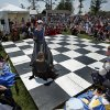 Chess pieces do battle in the human chess match during the Medieval Fair on Saturday, March 31, 2012, in Norman, Okla. Photo by Steve Sisney, The Oklahoman