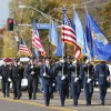 Various honor guards begin the Veterans Day parade on SE 15th St. in Midwest City, OK, Monday, November 11, 2013, Photo by Paul Hellstern, The Oklahoman