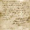 "Photo -   This undated image provided by the Texas State Library and Archives Commission shows a portion of the ""victory or death"" letter written by William Barret Travis from the Alamo on Feb. 24, 1836. (AP Photo/Texas State Library and Archives Commission)"
