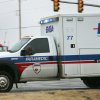 An EMSA ambulance responds to an emergency call near Reno and Portland Monday afternoon in Oklahoma City, January 26, 2009. BY STEVE GOOCH, THE OKLAHOMAN